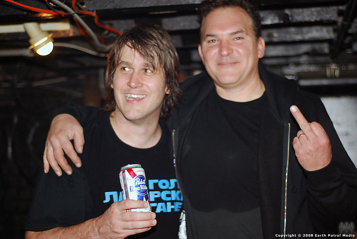 Eric Spicer and Randy Chumming It Up Backstage