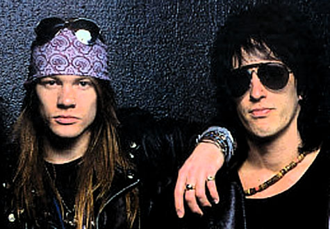 Axl Rose (left) and Izzy Stradlin