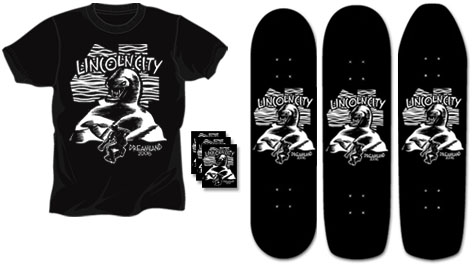 Lincoln City Benefit Shirts, Stickers and Boards