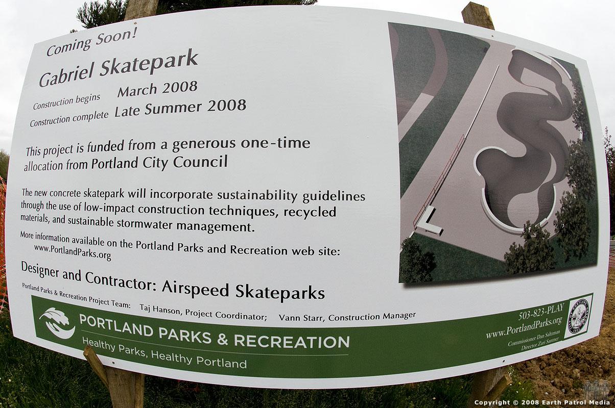 Sign @ Gabriel Park