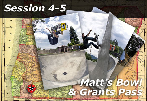Matt's Bowl and Grants Pass Skatepark