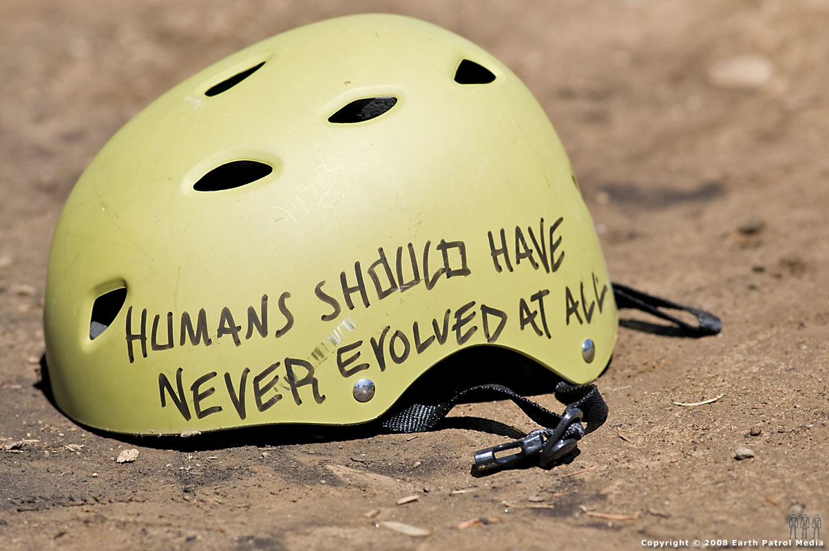 Devo helmet at Glenhaven