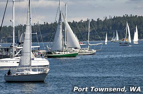 Sailing in Port Townsend, Washington