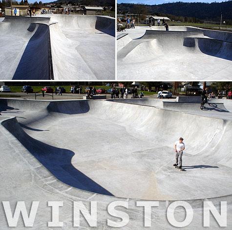 Winston Skatepark - Winston, OR