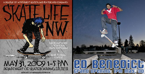 Ed Benedict Grand Opening and Skate Life NW Trade Show