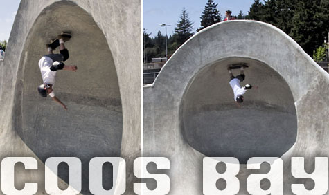 Zac - Master of the Clam @ Coos Bay Skatepark