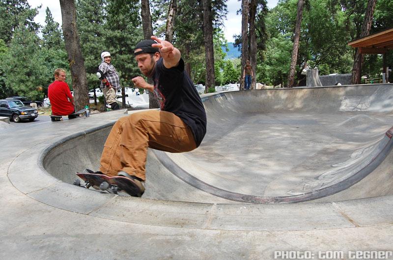 Fryer - FS Grind @ Sleestock 2009, Hood River Skatepark