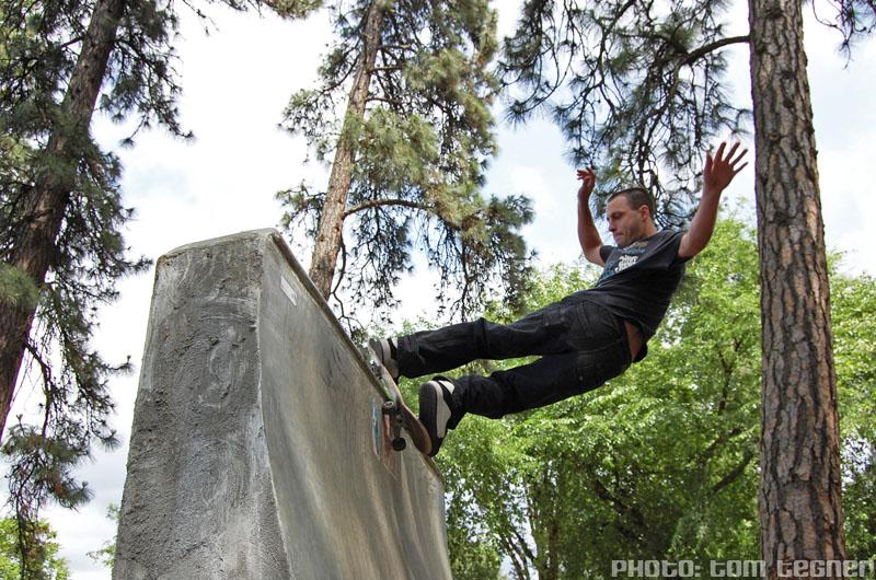 Skater - FS Rock @ Sleestock 2009, Hood River Skatepark