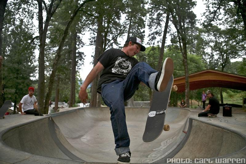 Skater - Sweeper @ Sleestock 2009, Hood River Skatepark