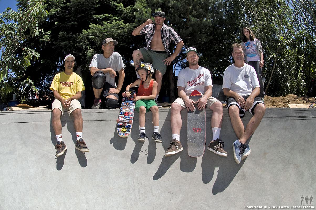 Session @ MC's Bowl: Wally, MC, Sky, Sage, Jeff, Chris and Anna