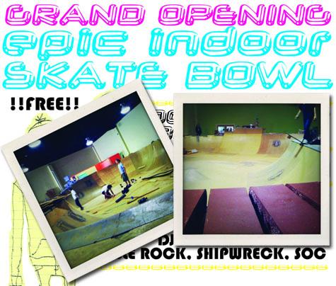 Epic Indoor Skatepark Banner
