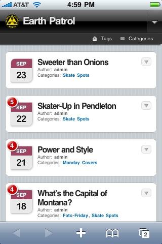 EPM Mobile App - Post List View