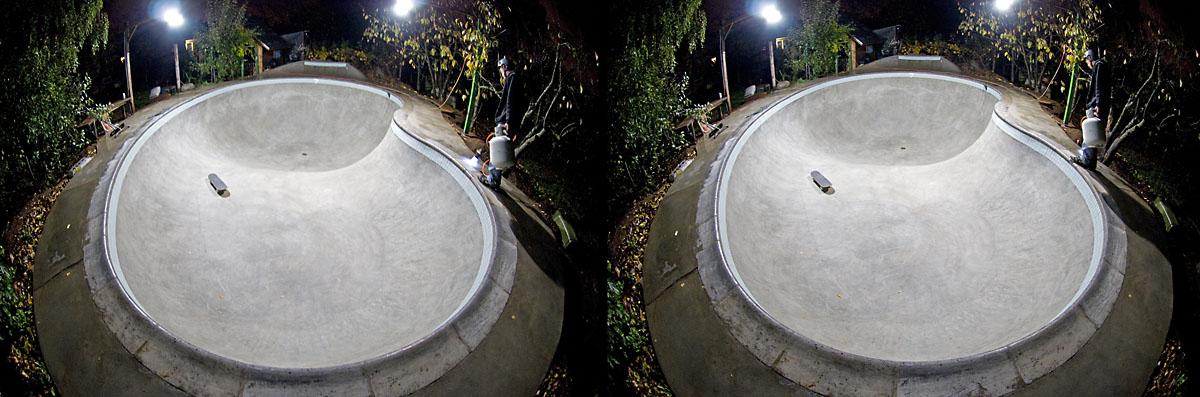 Bowl Glowing - 3D Cross-Eyed Pair