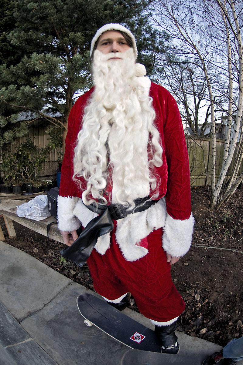Santa with Skate @ MC's Bowl