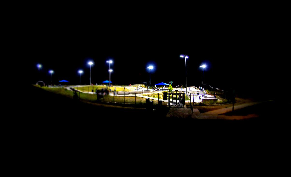 Tilt-shift of Granite Skate Park