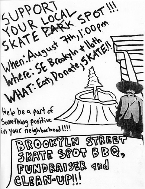 Brooklyn Street Skate Spot BBQ, Fundraiser and Cleanup - August 7th, 2010 @ 1 p.m.