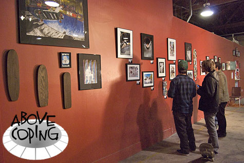 Above Coping Art Exhibit and Benefit at EPIC Indoor Skatepark