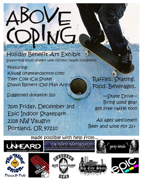 Holiday Benefit Art Exhibit for Above Coping
