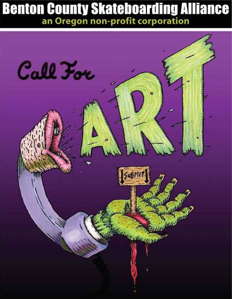 Benton County Skateboarding Alliance - Call for Art on Earth Patrol