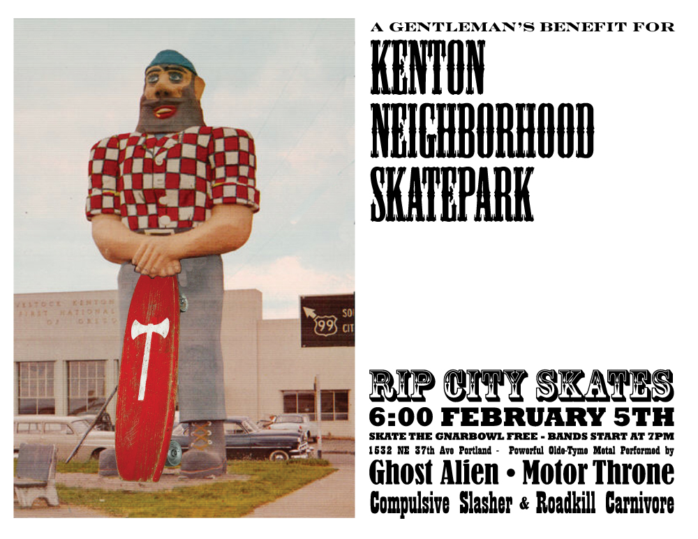 Kenton Skatepark Fundraiser - Flier 1