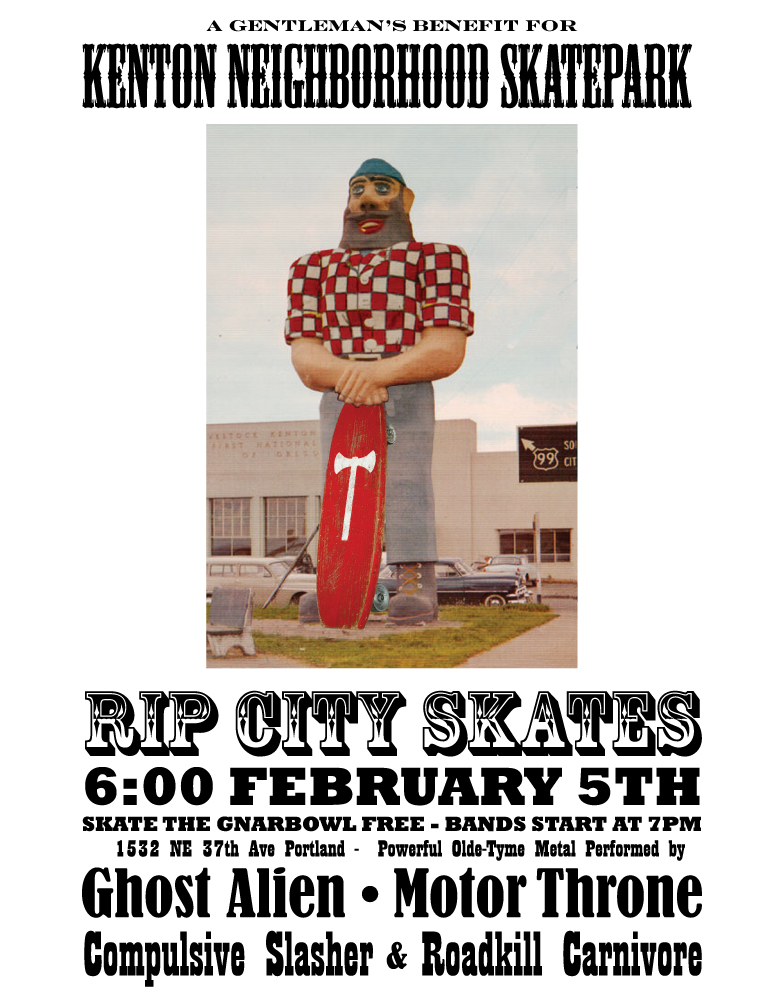 Kenton Skatepark Fundraiser - Flier 2