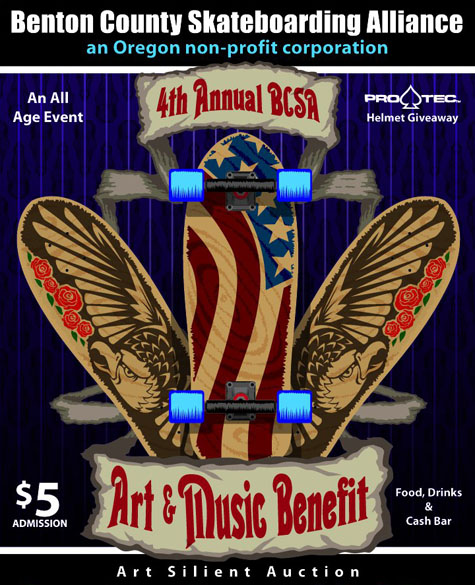 BCSA Art and Music Benefit Flier