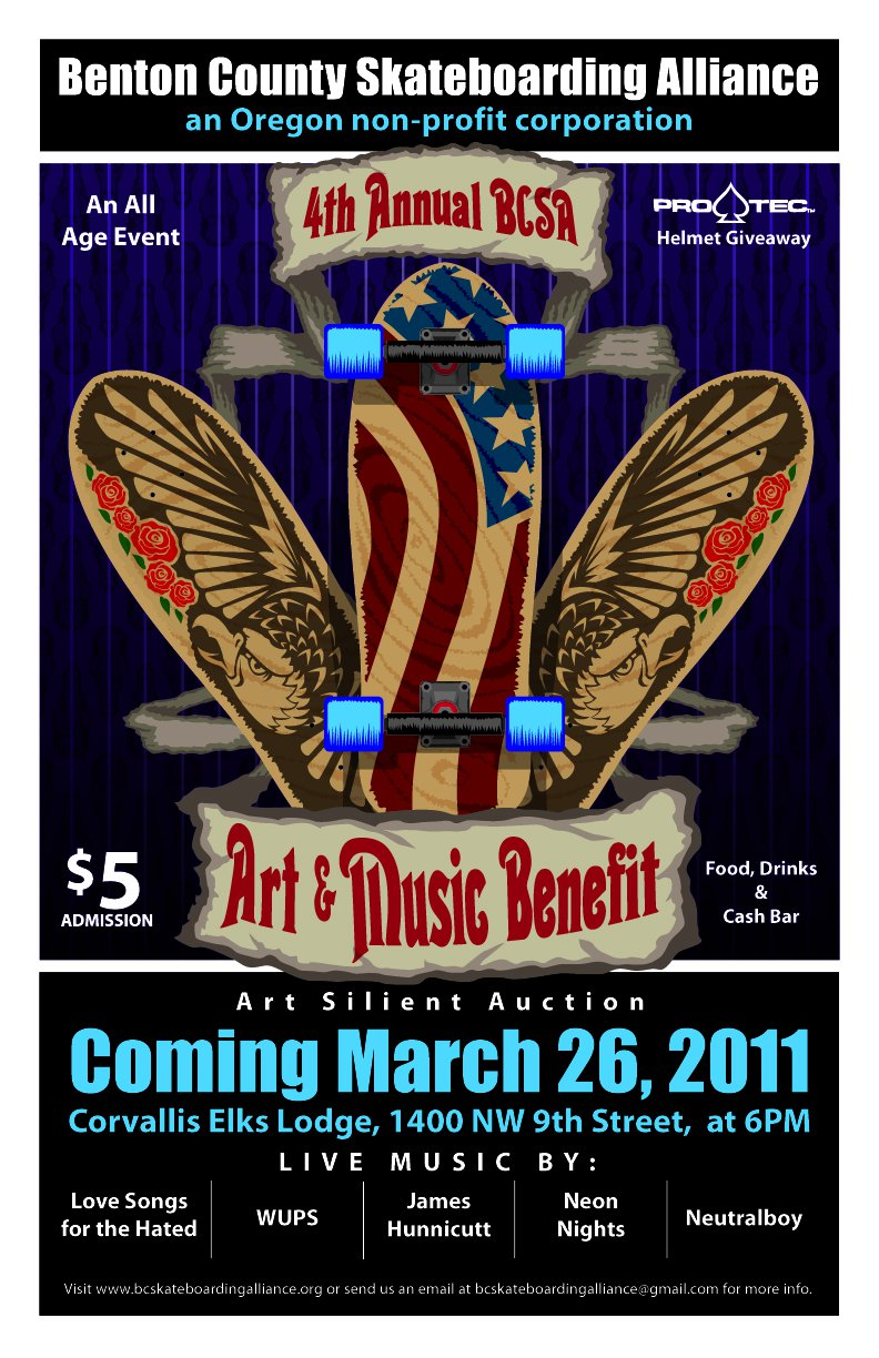 Fourth Annual BCAS Art and Music Benefit Flier