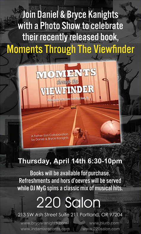 Moments Through the Viewfinder - Book Signing Flier