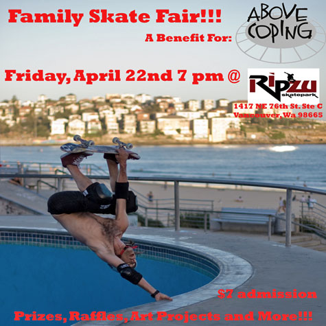 Family Skate Fair, a benefit for Above Coping @ Ripzu - April 22, 2010