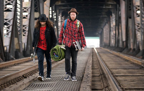 Al and Chet hit the tracks - Straight Trippin' Courtesy of SkateDaily.net; photo: Bryce Kanights