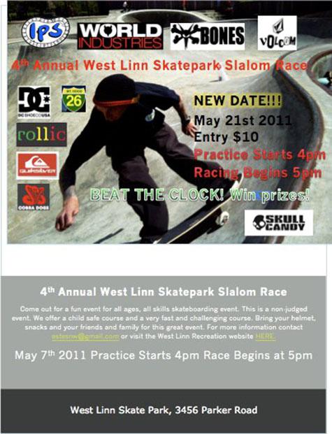 2011 West Linn Park Slalom Flier
