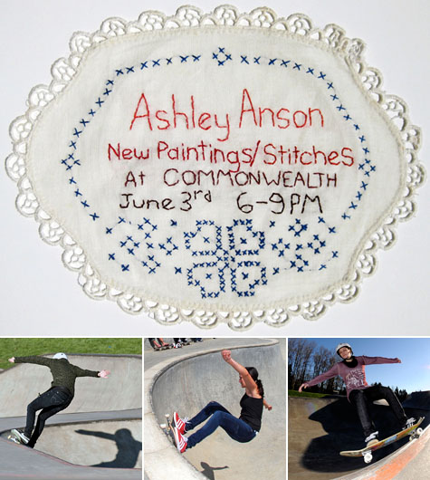 Ashley Anson Art Show @ Commonwealth Skateboarding, June 3, 2011