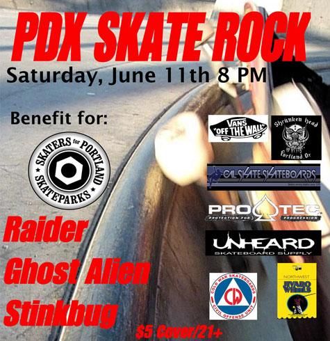 Benefit for Skaters for Portland Skateparks @ Plan B Saturday June 11, 2011