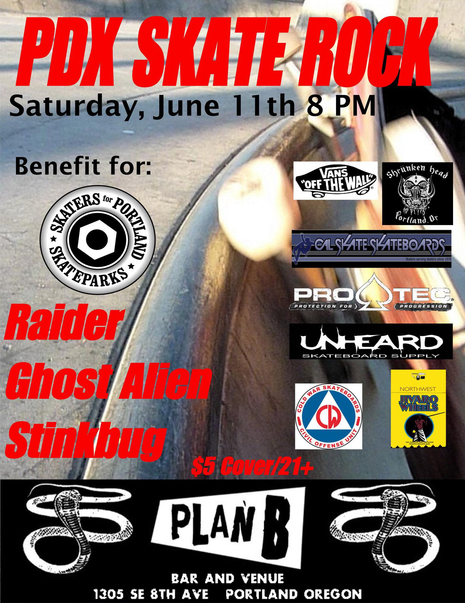 Benefit for Skaters for Portland Skateparks @ Plan B, Saturday June 11, 2011