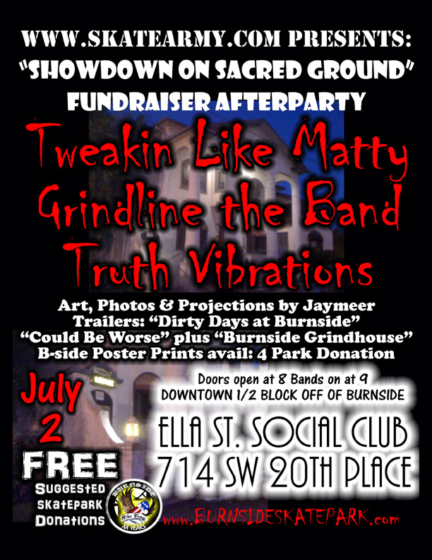 Showdown on Sacred Ground After-party Flier - Saturday, July 2nd, 2011