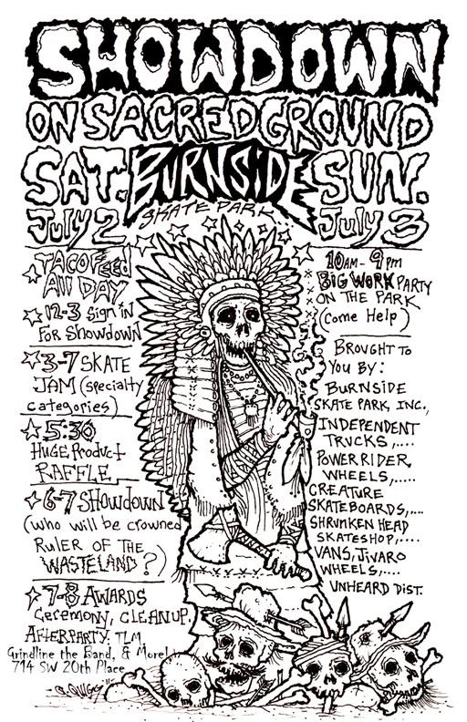Showdown on Sacred Ground Flier - Saturday/Sunday July 2nd & 3rd, 2011