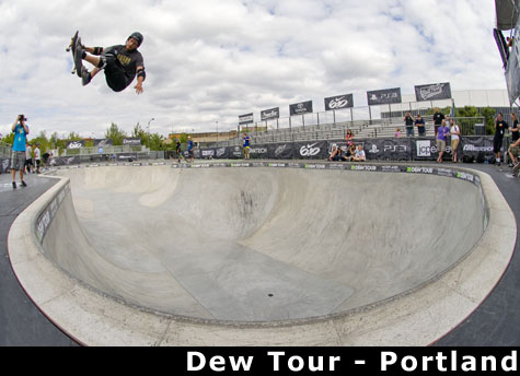 Chris Miller with a huge frontside air into the pocket - Dew Tour Portland