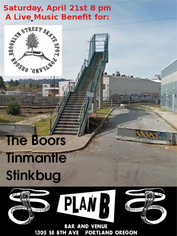 Brooklyn Street Skate Spot Benefit Flier