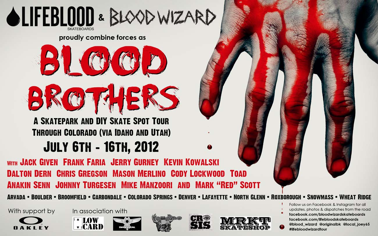 Blood Brothers Tour Flier - Lifeblood and Blood Wizard