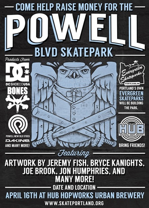 Powell Skatepark Fundraiser Flyer