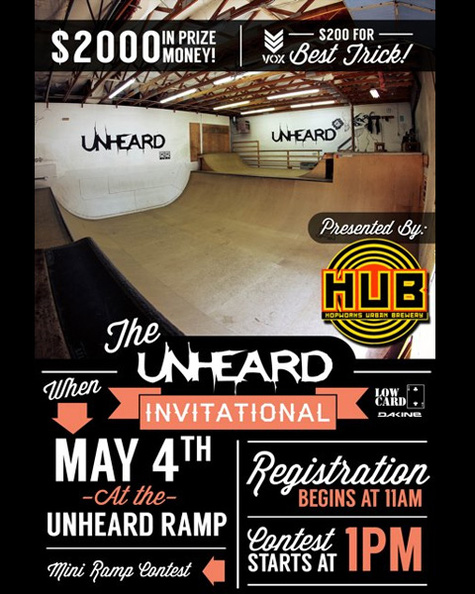 Unheard Invitational - May 4th @ 1pm